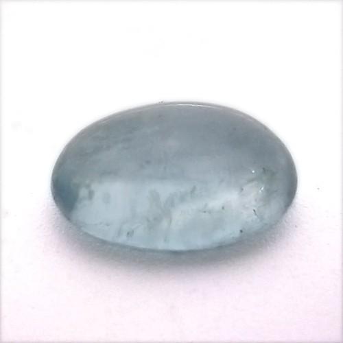 Natural Aquamarine Stone 7.19 Carat Oval Caboch...