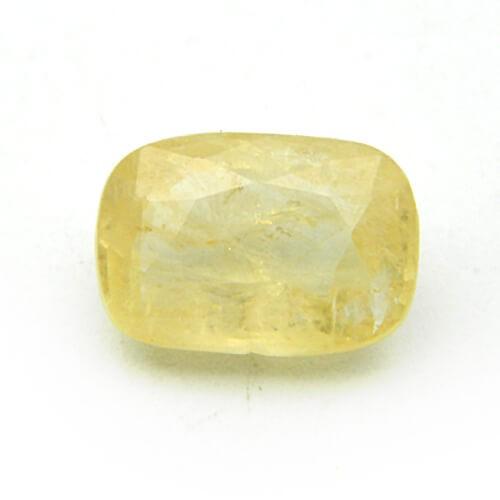 6.56 Carat/ 7.28 Ratti Natural Ceylon Yellow Sapphire (Pukhraj) Gemstone