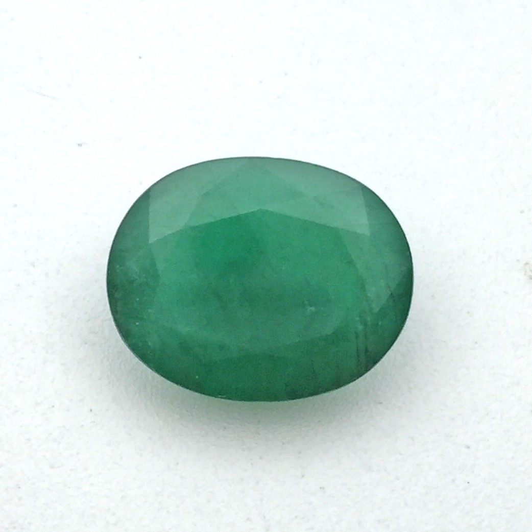 7.91 Carat/ 8.78 Ratti Natural Zambian Emerald (Panna) Gemstone