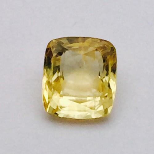 3.33 Carat/ 3.70 Ratti Natural Ceylon Yellow Sapphire (Pukhraj) Gemstone