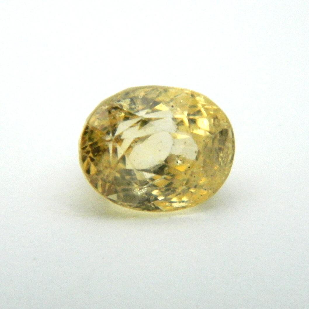 3.50 Carat/ 3.88 Ratti Natural Ceylon Yellow Sapphire Gemstone