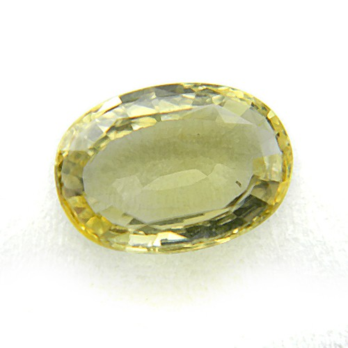 4.21 Carat/ 4.67 Ratti Natural Ceylon Yellow Sapphire (Pukhraj) Gemstone