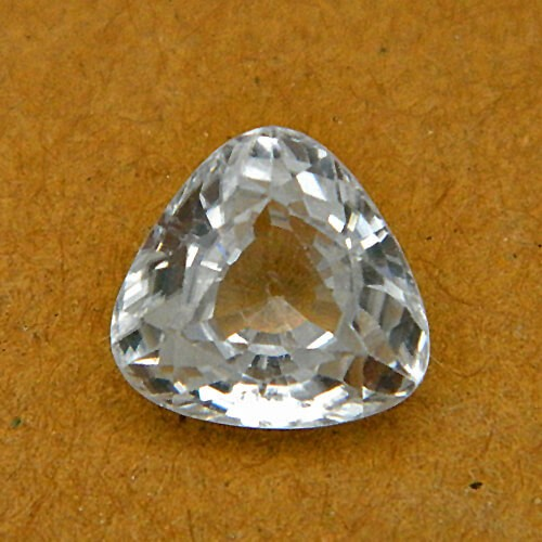 4.60 Carat/ 5.10 Ratti Natural Ceylon White Zircon Gemstone