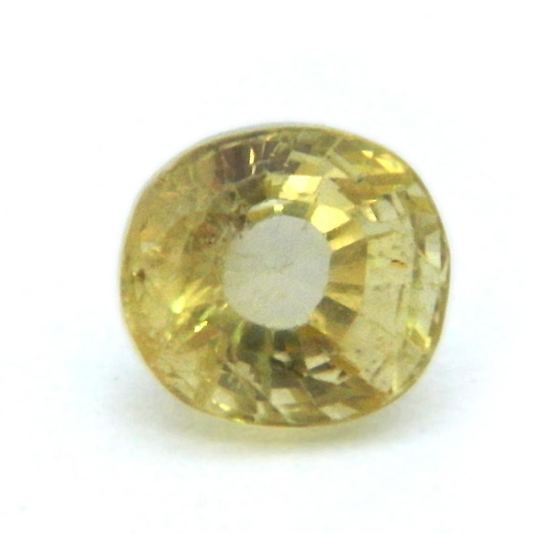 4.93 Carat/ 5.47 Ratti Natural Ceylon Yellow Sapphire Gemstone