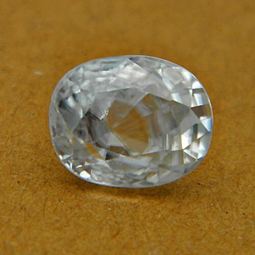 5.00 Carat/ 5.55 Ratti Natural Ceylon White Zircon Gemstone