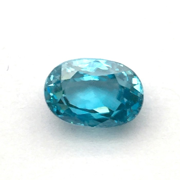 5.26 Carat Natural Blue Zircon Gemstone