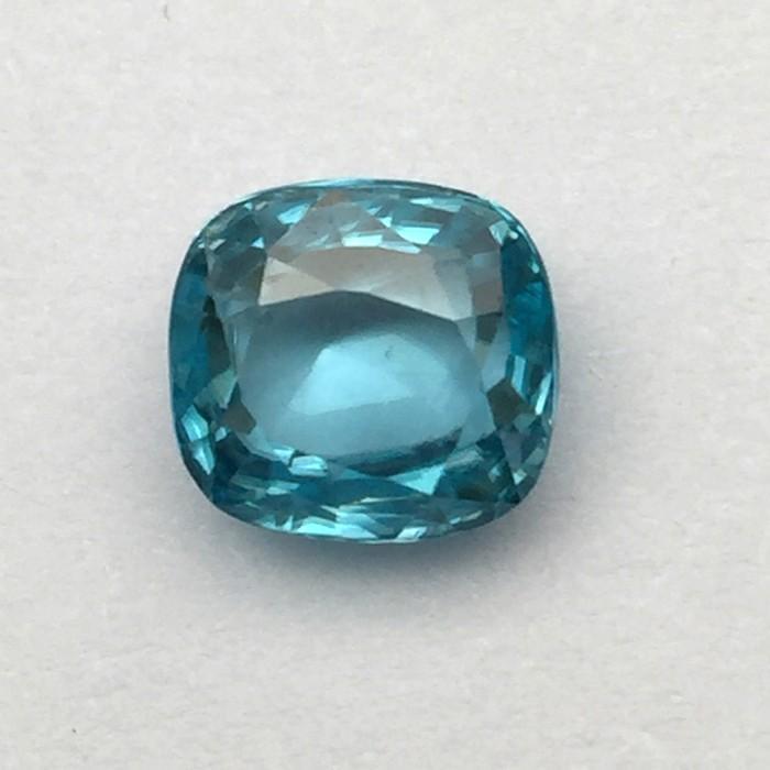 5.61 Carat  Natural Blue Zircon Gemstone