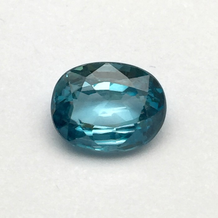 5.64 Carat  Natural Blue Zircon Gemstone