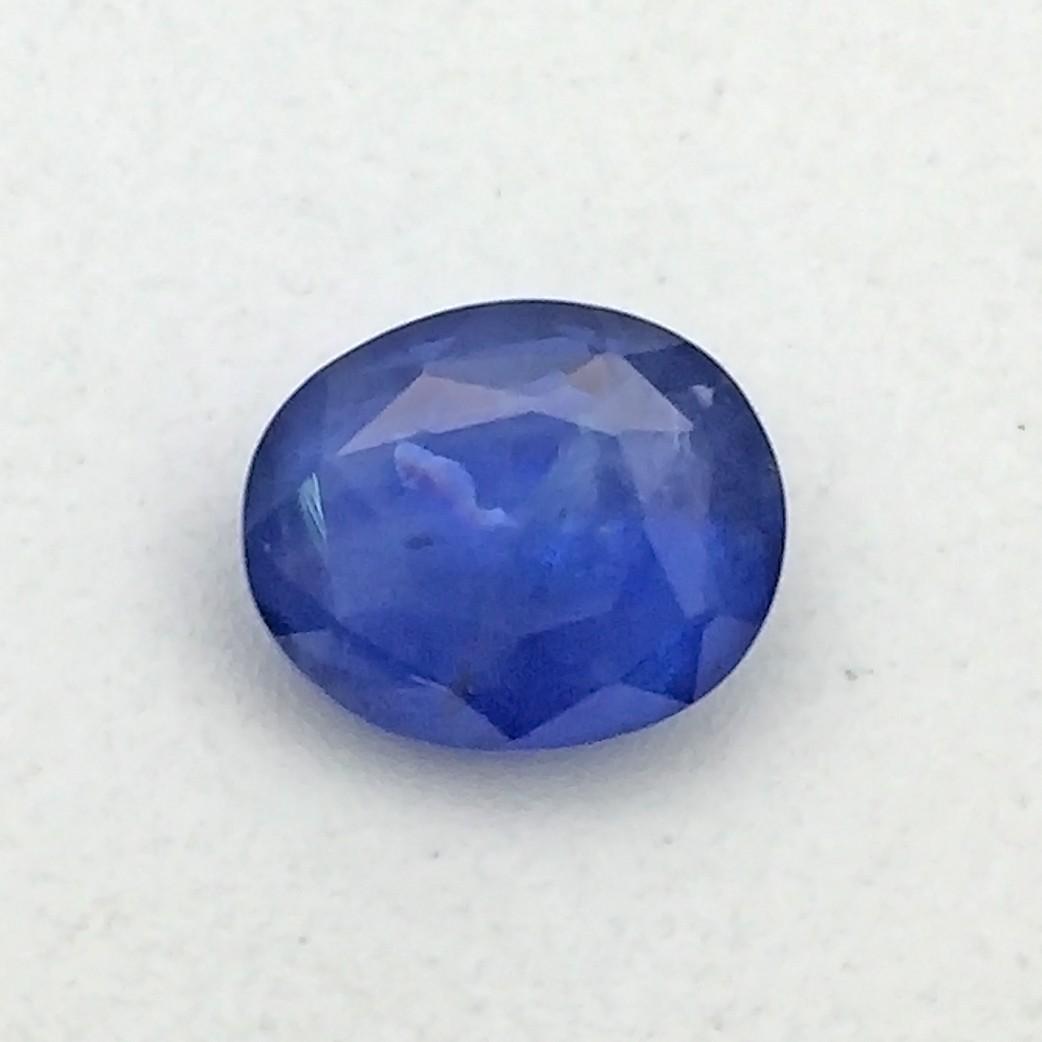 3.47 Carat  Natural Blue Sapphire (Neelam) Gemstone