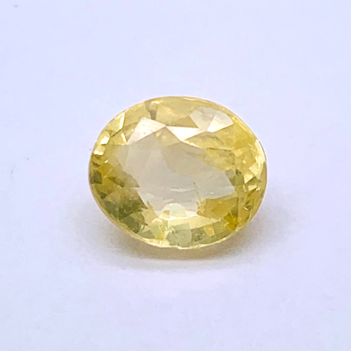 7.00 Carat/ 7.77 Ratti Natural Ceylon Yellow Sapphire (Pukhraj) Gemstone