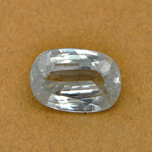 7.30 Carat/ 8.10 Ratti Natural Ceylon White Zircon Gemstone