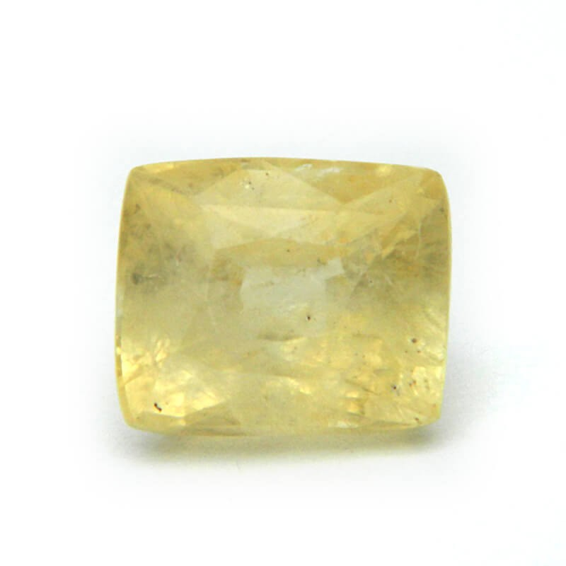 7.31 Carat/ 8.11 Ratti Natural Ceylon Yellow Sapphire Gemstone