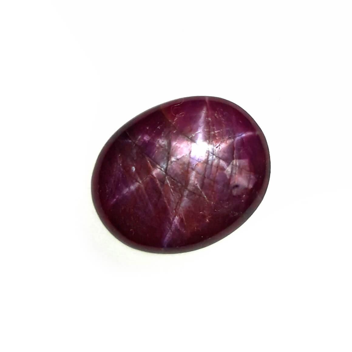 7.41 Carat/ 8.23 Ratti Natural African Star Ruby (Manik) Gemstone