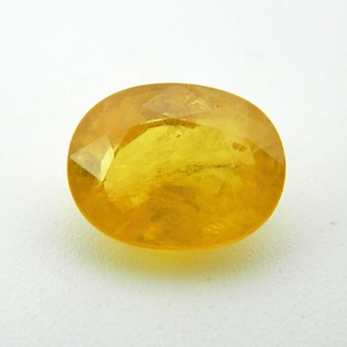 6.89 Carat Natural Yellow Sapphire (Pukhraj) Gemstone