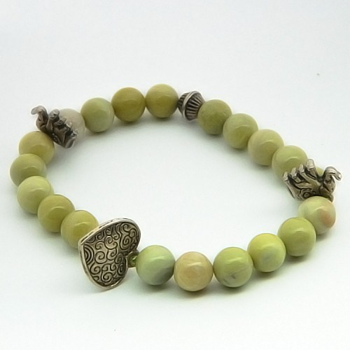 Natural Serpentine Gemstone Bracelet