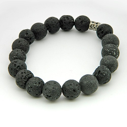 Natural Lava Stone Gemstone Bracelet