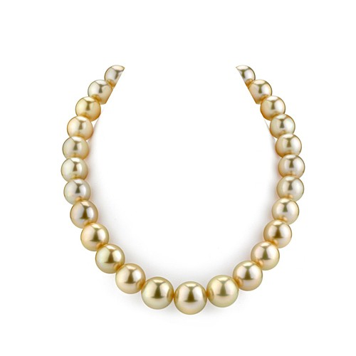 Golden South Sea Pearl String Necklace