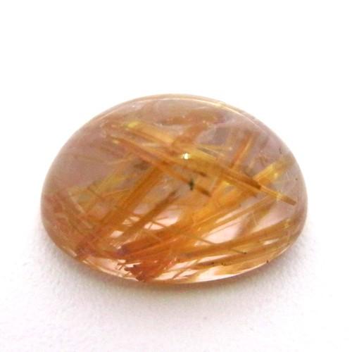 6.9 Carat Oval Cabochon Natural Rutilated quartz Gemstone