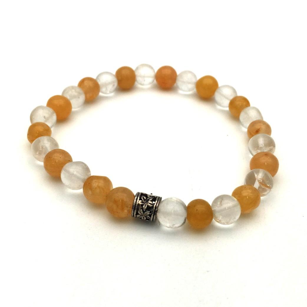 Carnelian & Crystal Gemstone Bracelet