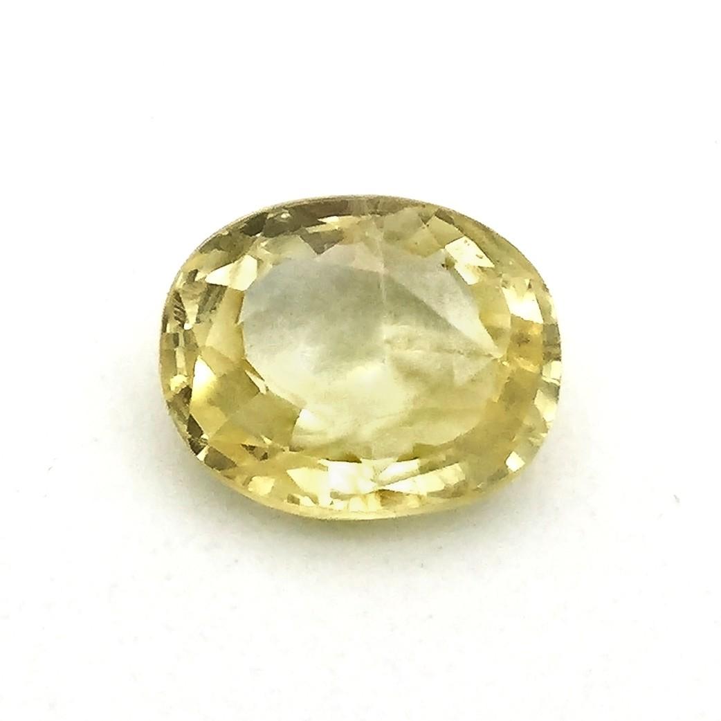 4.30 Carat Natural Yellow Sapphire (Pukhraj) Gemstone