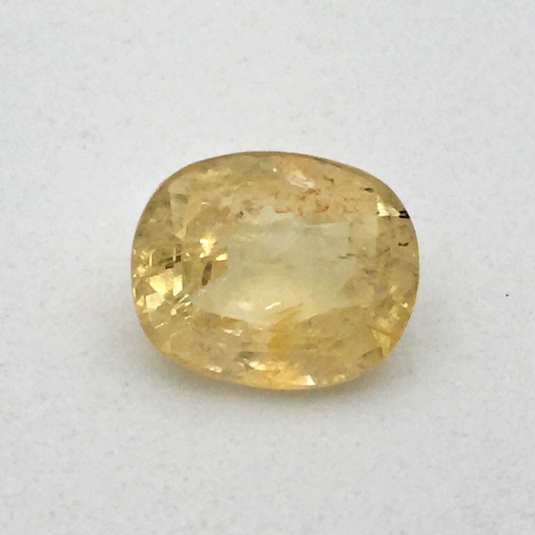 5.64 Carat Natural Yellow Sapphire (Pukhraj) Gemstone