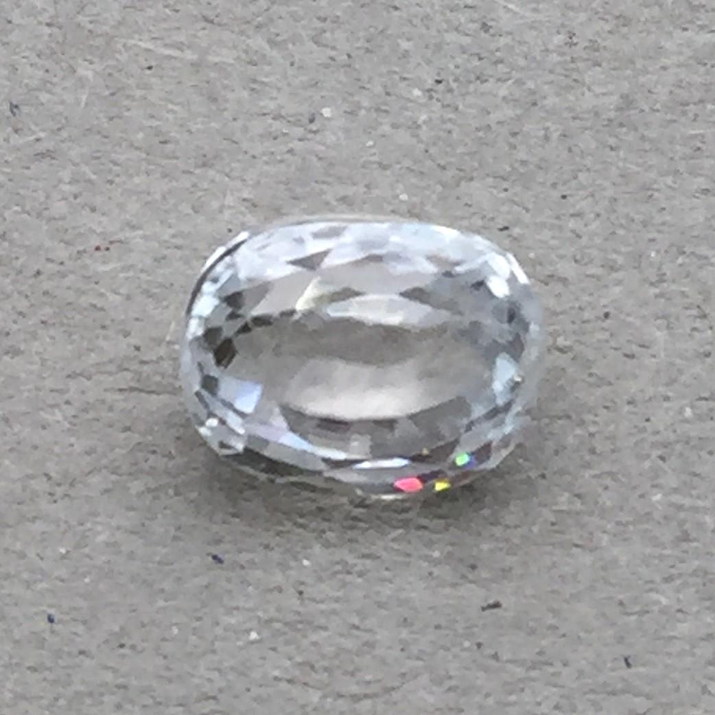 4.77 Carat Natural White Zircon Gemstone