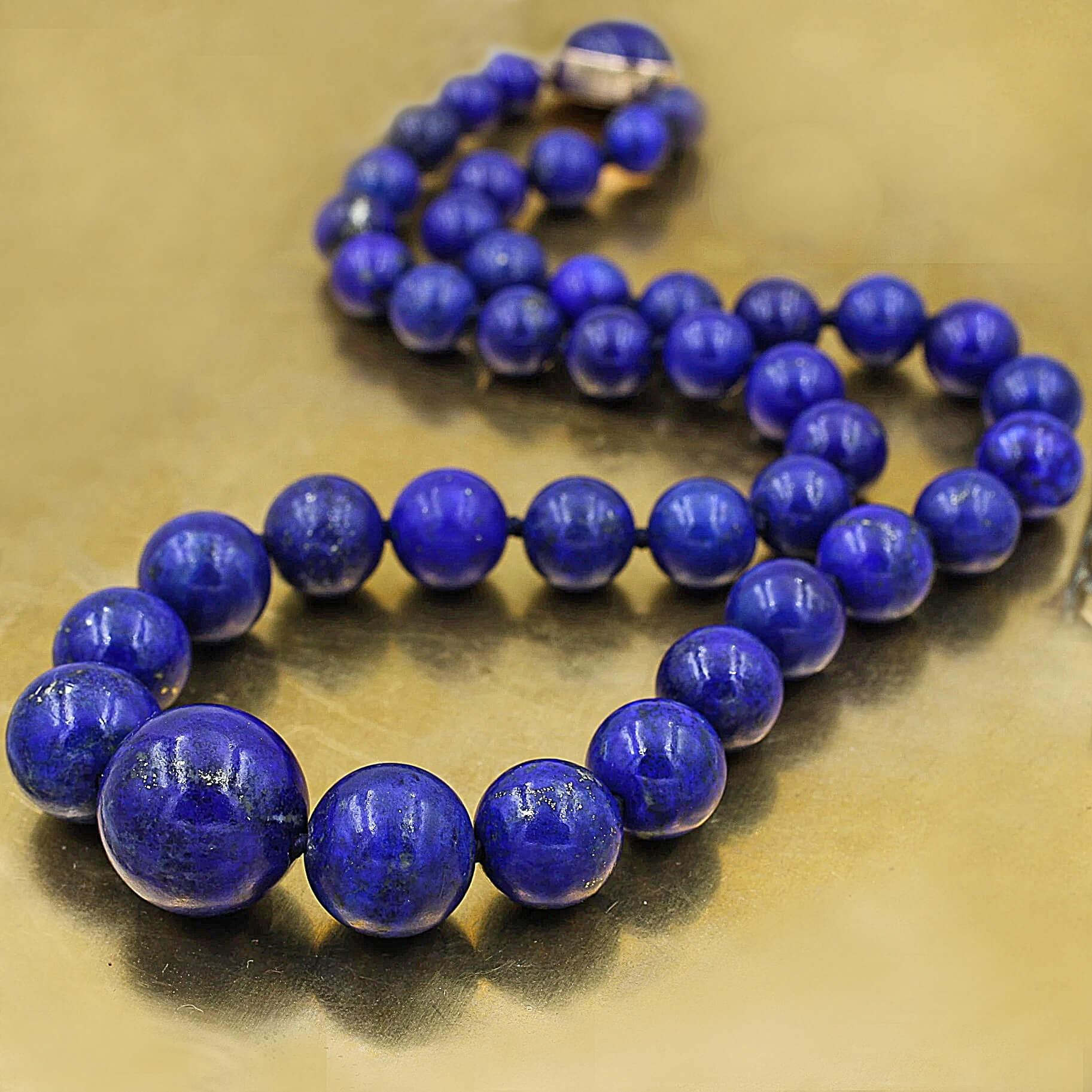 Natural Lapis Lazuli Beads Necklace
