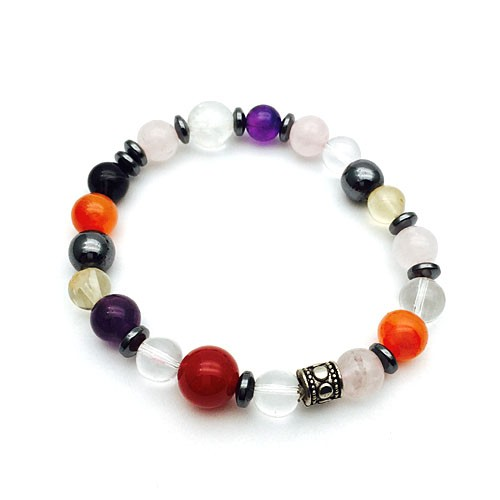 Natural Multi Color Healing Crystal Bracelet