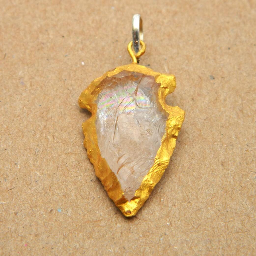 Natural Crystal Quartz Pendant