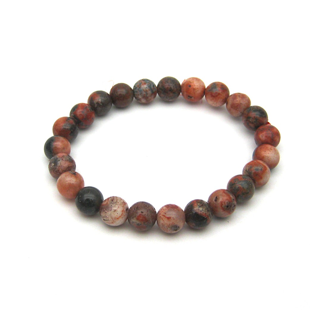 Natural Fire Agate Beads Bracelet