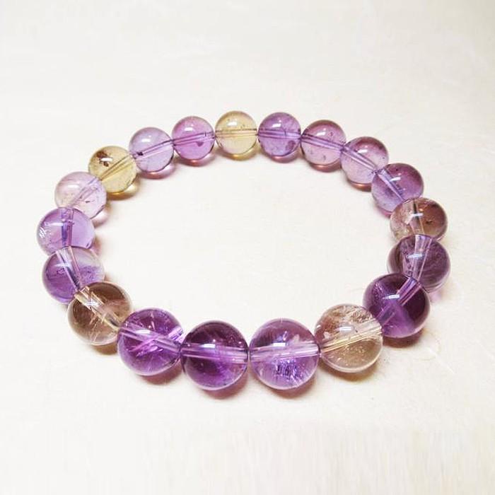 Natural Ametrine Crystal Beads Bracelet