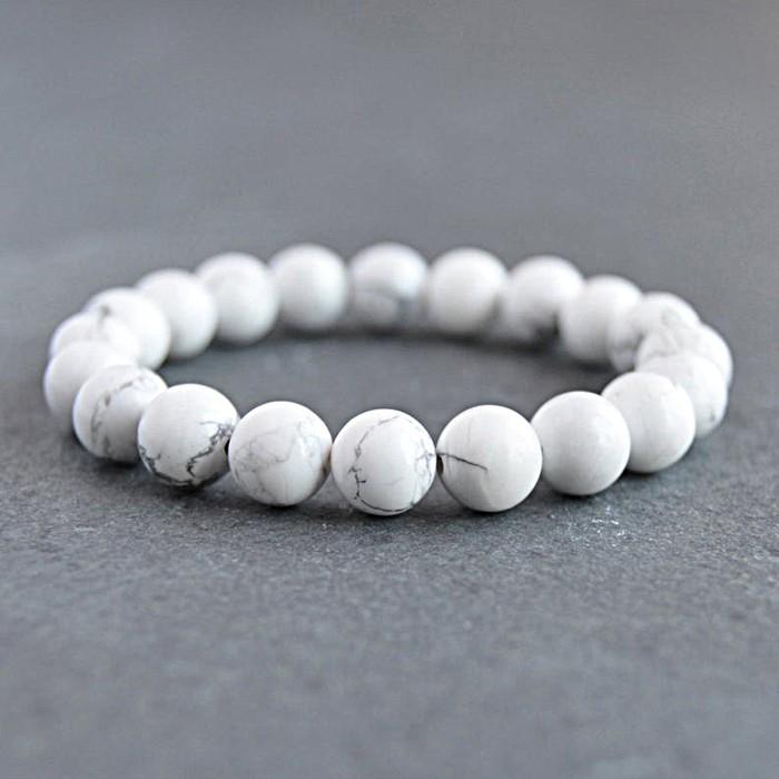 Natural Howlite Beads Bracelet