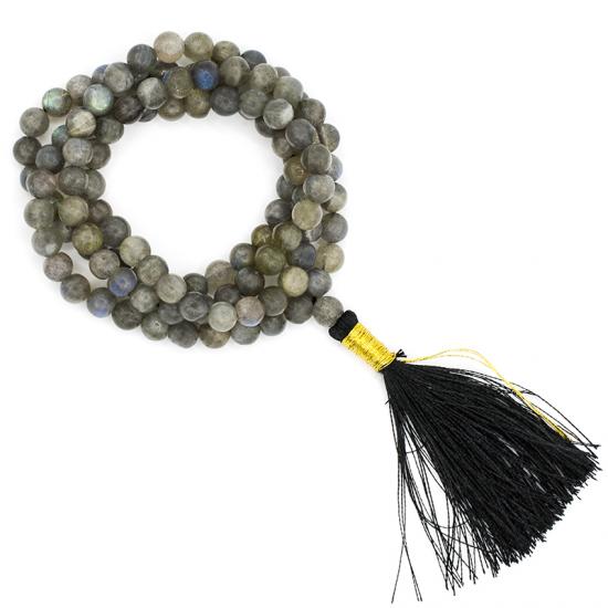 Natural Labradorite Beads String Mala