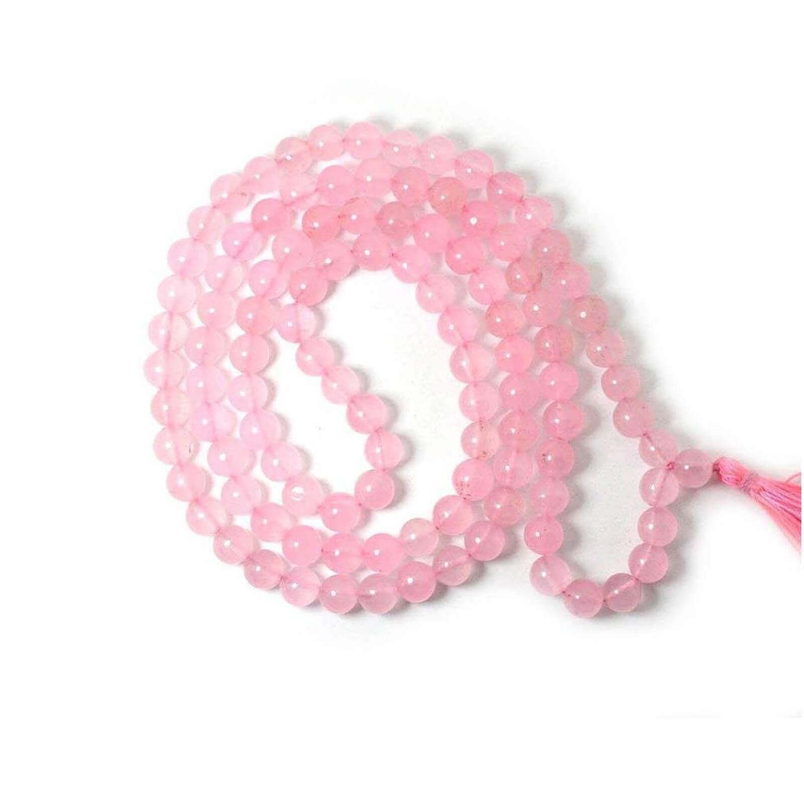 Natural Rose Quartz  Beads String Mala (24 Inch)