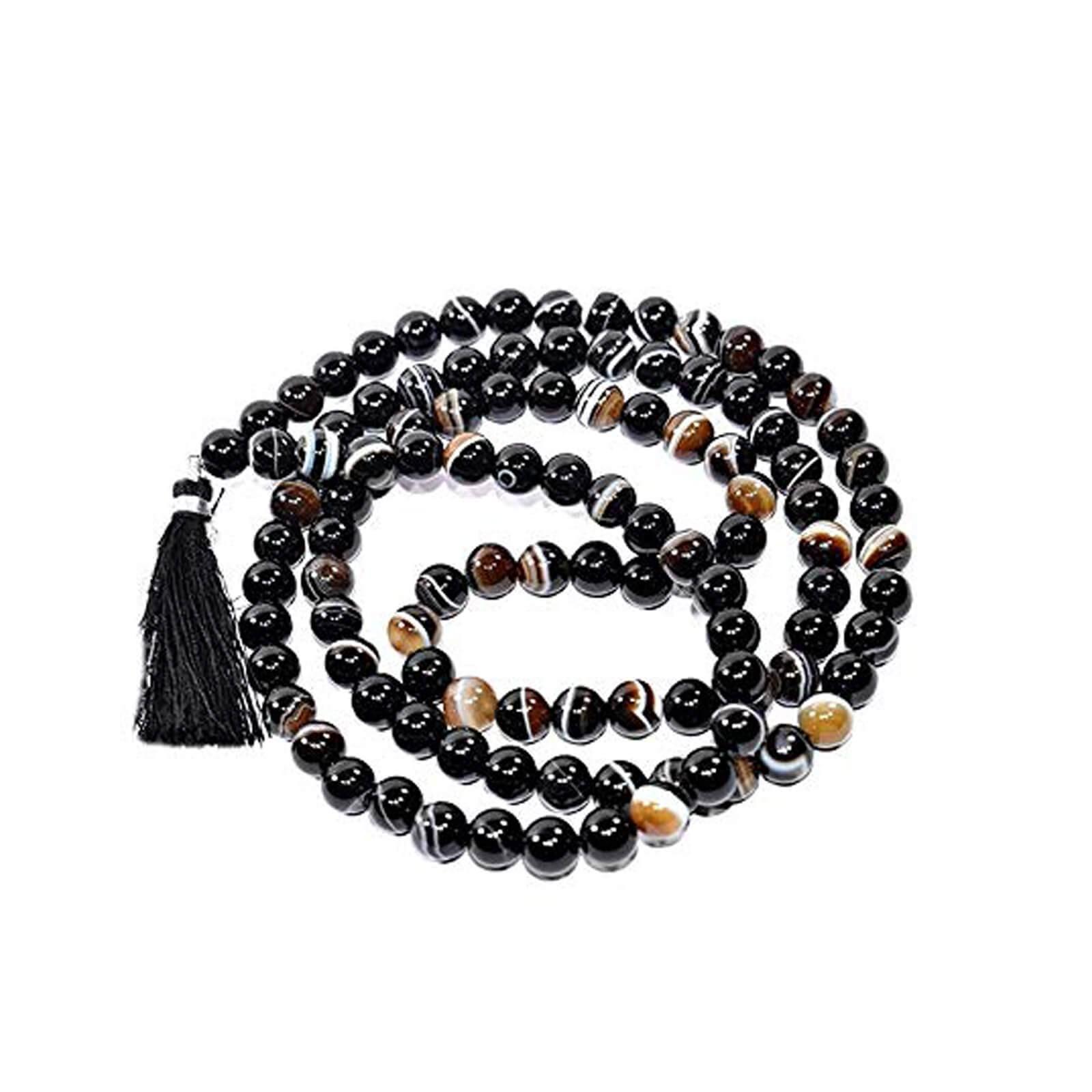 Natural Sulemani Hakik 108 Beads Japa Mala Rosary
