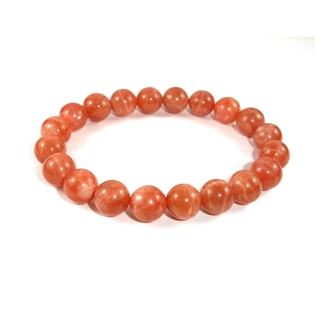 Natural Sunstone Beads Bracelet