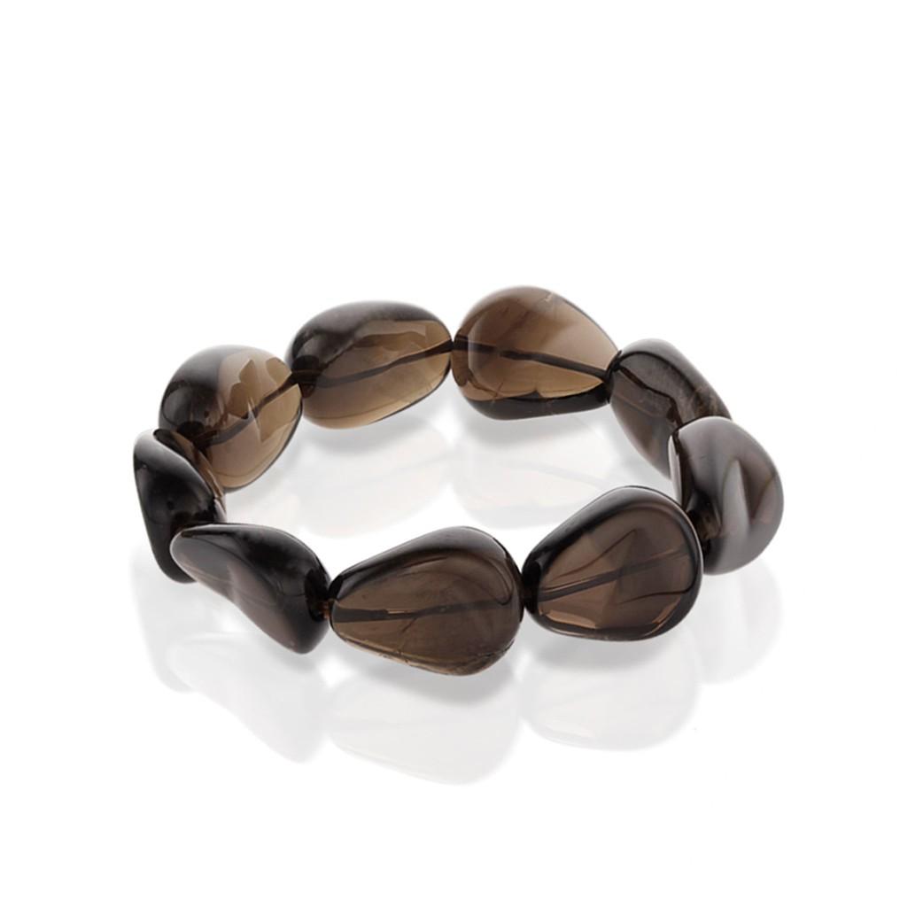 Natural Smoky Quartz Tumbled Bracelet