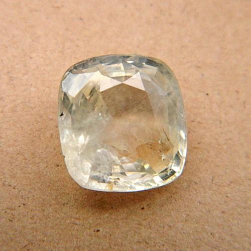 6.06 Carat  Natural White Sapphire Gemstone