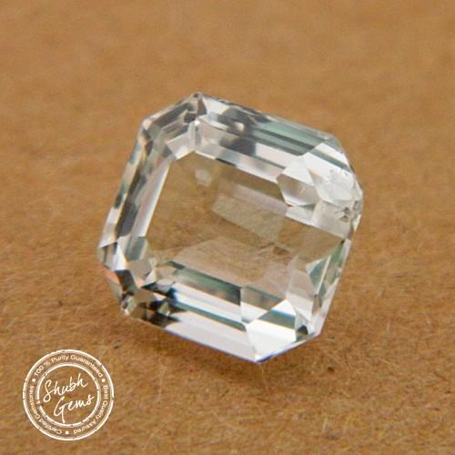 5.2 Carat  Natural White Sapphire Gemstone
