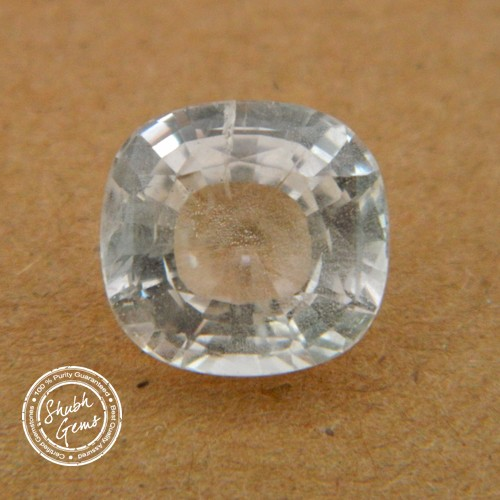 8.45 Carat/ 9.38 Ratti Natural Ceylon White Sapphire Gemstone