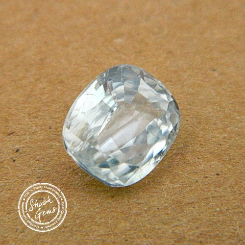 5.45 Carat Natural White Zircon Gemstone