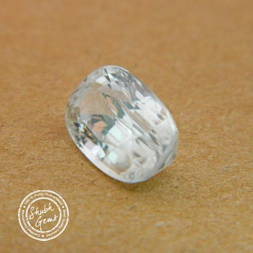 5.72 Carat Natural White Zircon Gemstone