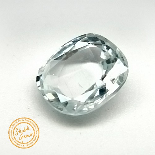 5.81 Carat Natural White Zircon Gemstone
