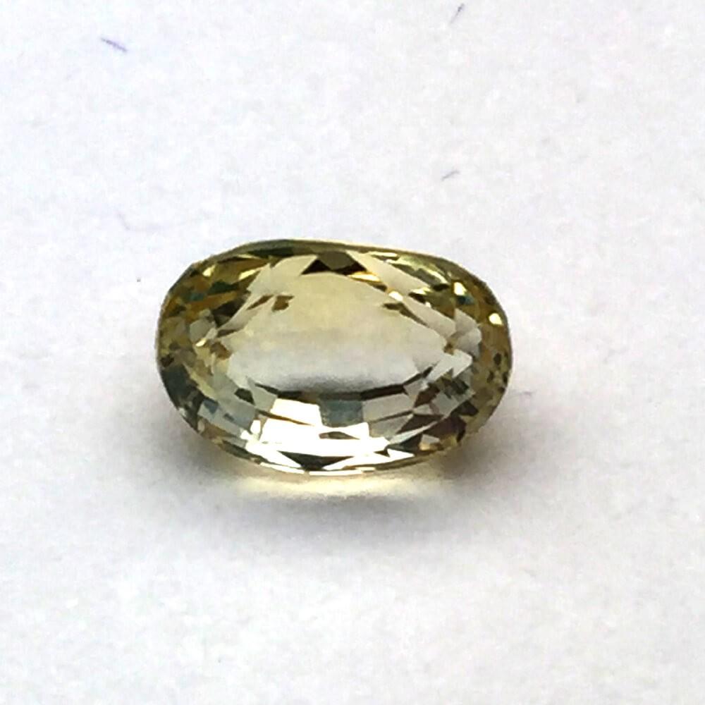 3.29 Carat Natural Ceylon Yellow Sapphire (Pukhraj) Gemstone