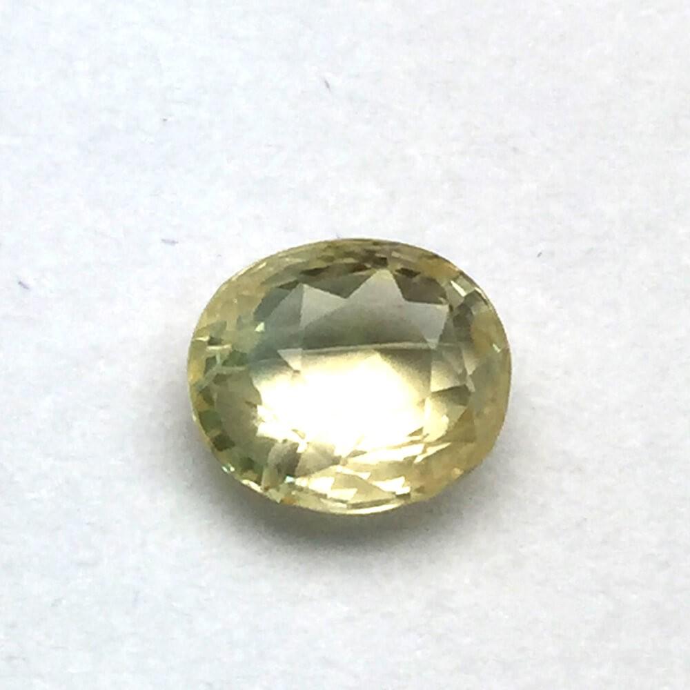 3.03 Carat Natural Ceylon Yellow Sapphire (Pukhraj) Gemstone