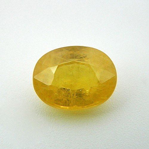 7.86 Carat Natural Yellow Sapphire (Pukhraj) Gemstone