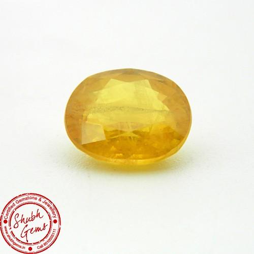 5.70 Carat Natural Yellow Sapphire (Pukhraj) Gemstone
