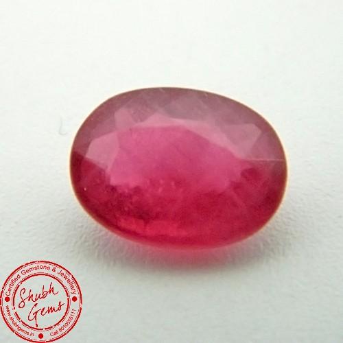 3.85 Carat  Natural Ruby (Manik) Gemstone