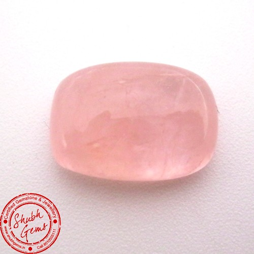 11.41 Carat Cushion Cabochon Natural Morganite Gemstone