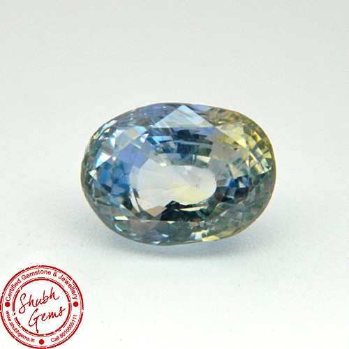 5.14 Carat Natural Particolored Sapphire Gemstone